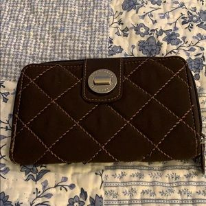 Vera Bradley Quilted Brown Wallet Very Nice